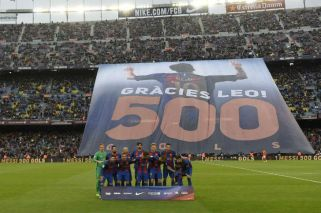 El Camp Nou homenajeó a Messi por sus 500 goles en Barcelona