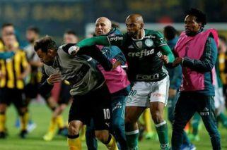 Jugadores de Peñarol y Palmeiras terminaron a las trompadas