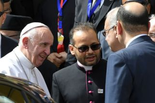 Francisco llegó a Egipto: gran operativo de seguridad