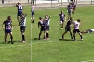 Rugby violento: jugador noqueó a un árbitro en Francia