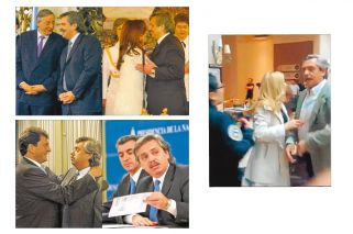 Gira: con Néstor Kirchner tras asumir; con Cristina también como jefe de Gabinete; con Massa y Randazzo en el gobierno y en la oposición, e insultado en un shopping.