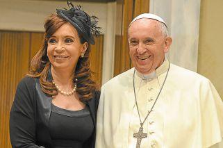 """En campaña. """"Ningún mandatario se entrevistó tantas veces con el Pontífice."""""""