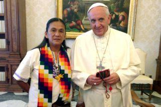 Carta del Papa en apoyo a Milagro Sala: