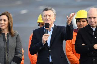 Macri inauguró un viaducto citando a Perón