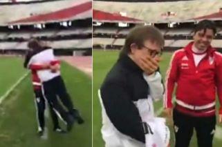 Marcelo Gallardo le alegró la vida a un chico con síndrome de Down