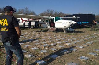 Derriban una avioneta narco a los tiros en San Antonio de Areco
