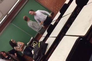 Video: un profesor de la UB desafió y amenazó a un alumno en plena clase