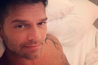 Ricky Martin se sacó una selfie… ¡sin el boxer!
