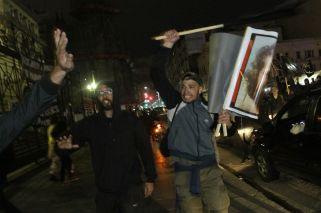 Incidentes entre la policía y los manifestantes en la marcha por Santiago Maldonado