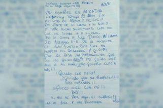 Angustiante carta de una nena abusada a Vidal: