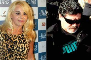 Claudia Villafañe demandó a Diego Maradona por calumnias e injurias