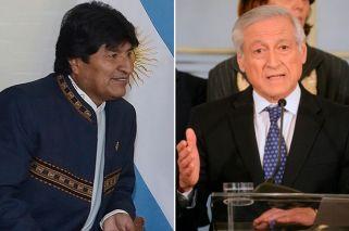 Evo Morales y Heraldo Muñoz