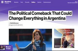 Medios del exterior reflejan el impacto del posible regreso de Cristina