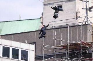 Se accidentó Tom Cruise en medio del rodaje de Misión Imposible 6