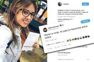 Julián Serrano y Nati Jota, influencers que convocan a los jóvenes a votar