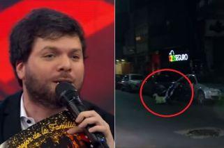 Susto en el programa de Guido Kaczka: Un participante chocó contra un auto