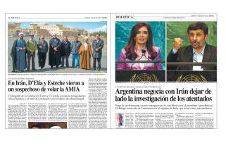 2010 y 2011: notas de tapa del diario PERFIL revelando el pacto con Irán que recién cuatro años después se animó a denunciar Nisman y ahora a impulsar Pollicita.
