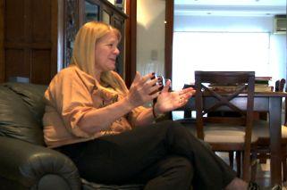 Margarita Stolbizer durante la entrevista con Jorge Fontevecchia.