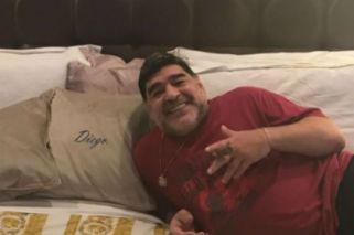 Maradona celebró el boleto a Rusia con una imagen de Messi