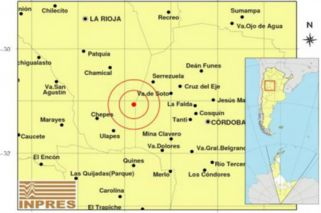 Un sismo de 5,5 grados sacudió Córdoba