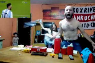 El festejo de un argentino dio la vuelta al mundo