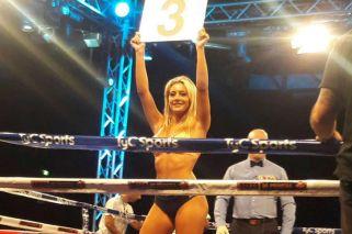 Sol Pérez debutó como ring girl y noqueó a más de uno