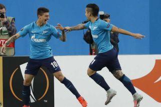 Rigoni brilló con tres goles en el triunfo del Zenit