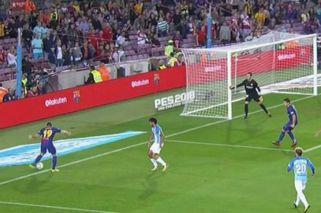 Polémica en el primer gol del Barcelona al Málaga