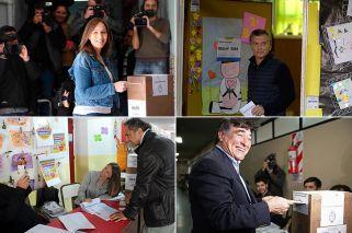 Galería | Así votaron las figuras clave de la elección