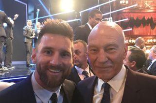 Así fue el encuentro entre Patrick Stewart y Messi
