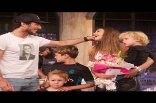 Con complicidad de Pico Mónaco, Pampita recibió una linda sorpresa de sus hijos