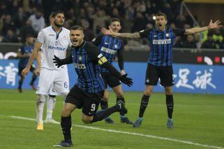 El Inter saltó al segundo lugar con doblete de Icardi