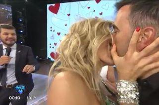 Macarena Rinaldi le comió la boca a Federico Hoppe en Showmatch