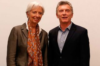 IMF boss Christine Lagarde arrives in BA to talk austerity