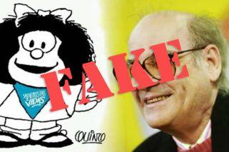 Quino: Leave Mafalda out of abortion debate