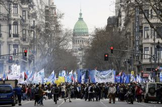 Protesters block off streets in Buenos Aires in show of discontent