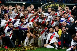 River defeat 10-men Boca to clinch Copa Libertadores title in Madrid