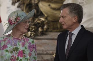 Danish Queen Margrethe II arrives in Buenos Aires for official visit