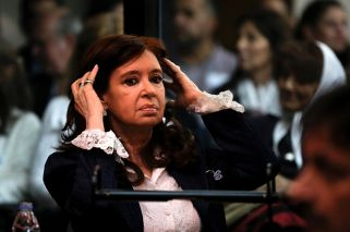 CFK sits through dramatic allegations of corruption in first trial