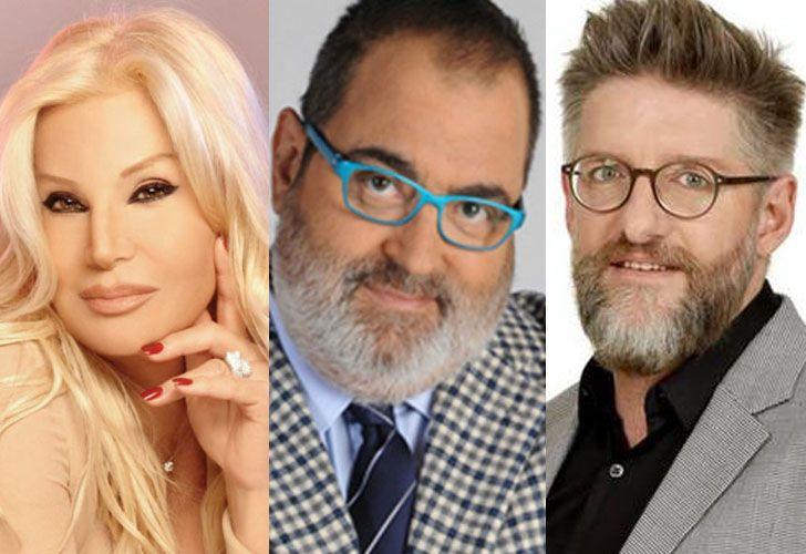 Susana Giménez, Jorge Lanata y Luis Novaresio