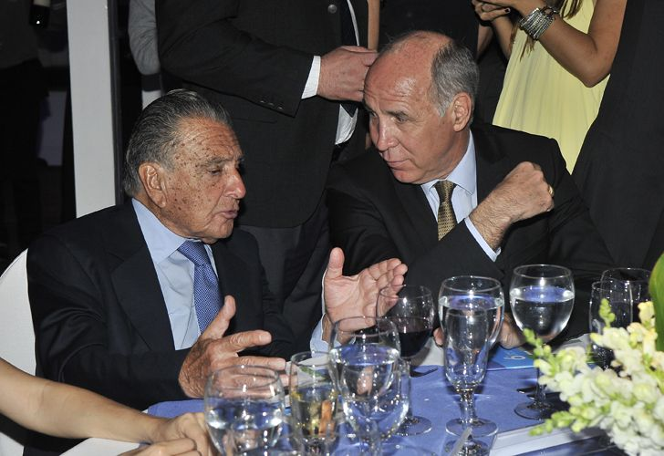 El presidente del club River Plate, Rodolfo D'Onofrio, junto al presidente de la Corte Suprema, Ricardo Lorenzetti.