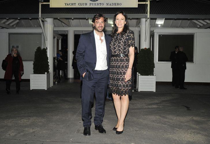 El ministro de Gobierno bonaerense Federico Salvai, junto a su esposa, la ministra de Desarrollo Social Carolina Stanley.