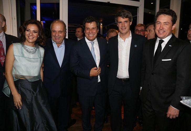 Hernán Lombardi, Facundo Manes y Alfonso Prat-Gay.