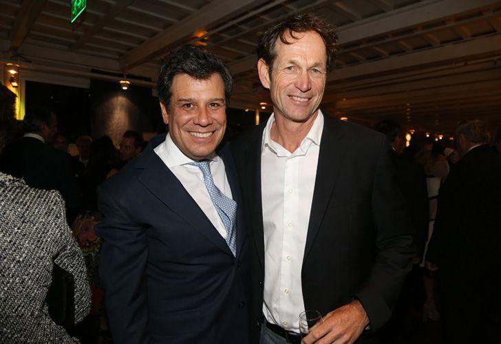 El medallista olímpico Santiago Lange junto al presidente de la Fundación INECO, Facundo Manes.