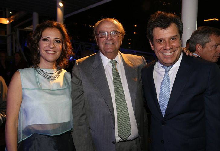 Facundo Manes y su esposa en la cena anual de la Fundación INECO.