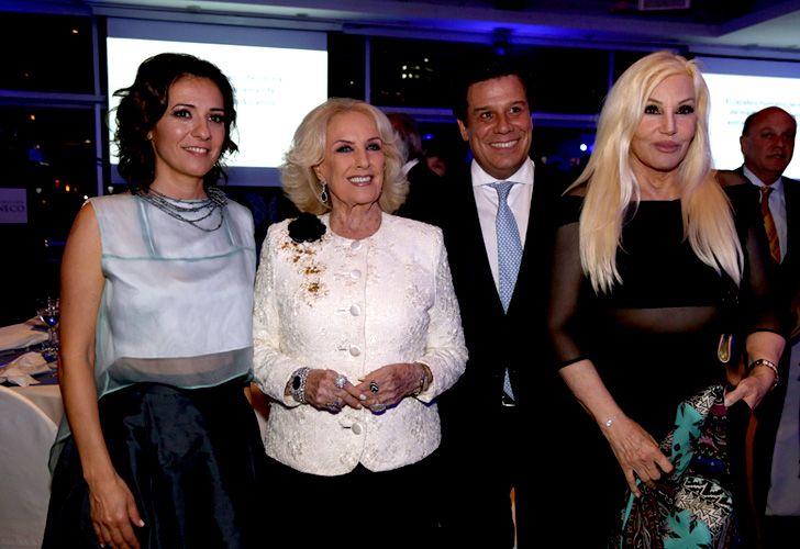 Mirtha Legrand, el presidente de la Fundación INECO, Facundo Manes, y Susana Giménez.