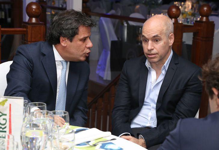 El presidente de la Fundación INECO, Facundo Manes, y el jefe de Gobierno porteño, Horacio Rodríguez Larreta.