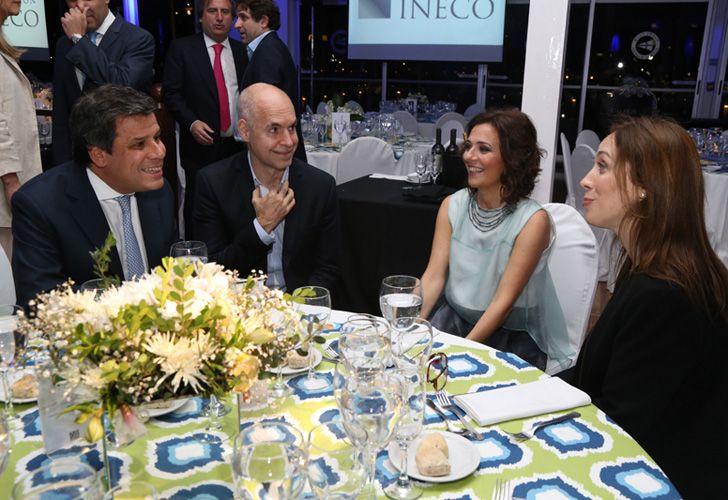 Facundo Manes, Horacio Rodríguez Larreta y María Eugenia Vidal.
