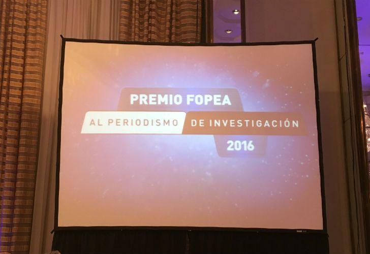 En la terna, periodismo en profundidad, la periodista de Perfil, Agustina Grasso, recibió una mención, por su nota Madre e Hija