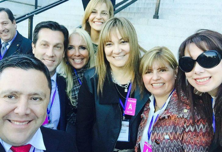 La cobertura electoral de los legisladores argentinos que viajaron a Estados Unidos.